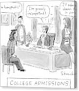 College Admissions Canvas Print