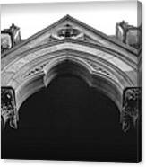 College Hall Entry - Black And White Canvas Print