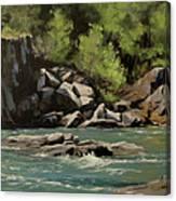 Colliding Rivers Canvas Print