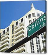 Collins Avenue Canvas Print
