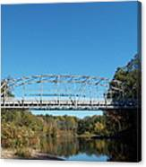 Collinsville Steel Bridge 1 Canvas Print