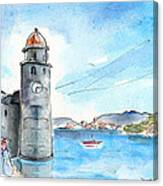 Collioure Tower Canvas Print