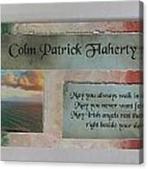 Colm Irish Name Plate Canvas Print