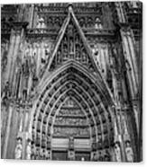 Cologne Cathedral 11 Bw Canvas Print
