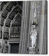 Cologne Cathedral South Side Detail 1 Canvas Print