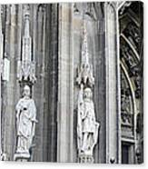 Cologne Cathedral South Side Detail 2 Canvas Print