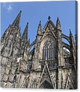 Cologne Cathedral South Side Rooflines Canvas Print