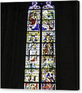 Cologne Cathedral Stained Glass Window Coronation Of The Virgin Canvas Print