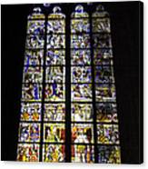 Cologne Cathedral Stained Glass Window Of St Peter And Tree Of Jesse Canvas Print