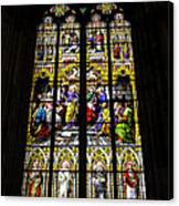 Cologne Cathedral Stained Glass Window Of St Peter Canvas Print