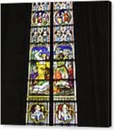 Cologne Cathedral Stained Glass Window Of St. Stephen Canvas Print