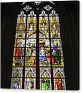 Cologne Cathedral Stained Glass Window Of The Adoration Of The Magi Canvas Print