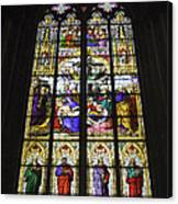 Cologne Cathedral Stained Glass Window Of The Lamentation Canvas Print