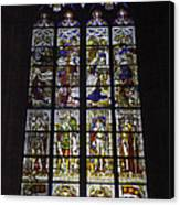 Cologne Cathedral Stained Glass Window Of The Nativity Canvas Print