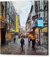 Cologne Stroll Canvas Print