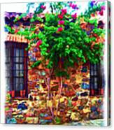 Colonia Del Sacramento Window Canvas Print