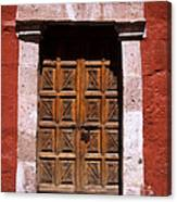 Colonial Door Arequipa Peru Canvas Print