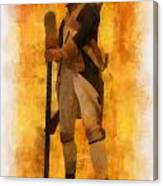 Colonial Soldier Photo Art  Canvas Print