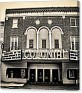 Colonial Theater In Phoenixville In Sepia Canvas Print