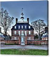 Colonial Williamsburg Governor's Palace Moonrise Canvas Print