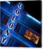 Colony Hotel 1 Canvas Print