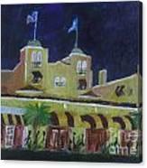Colony Hotel At Night. Delray Beach Canvas Print