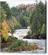 Color At The Falls Canvas Print