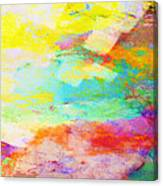 Color Burst Abstract Art  Canvas Print