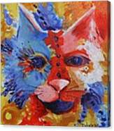 Color Cat Canvas Print