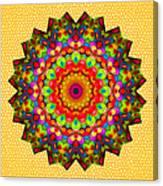 Color Circles Kaleidoscope Canvas Print