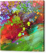 Color Explosion Abstract Art Canvas Print