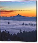 Color Fog Mountain Canvas Print