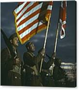 Color Guard Of African American Canvas Print