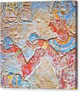 Color Hieroglyph Canvas Print