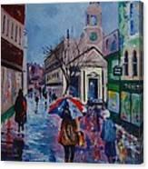 Color In The Rain Canvas Print