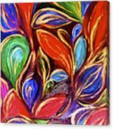 Color Meets Gold Canvas Print