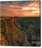 Color Of The Grand Canyon South Rim V8 Canvas Print
