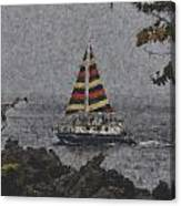 Color Of The Sails Canvas Print