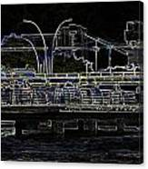Color Pencil - Visitors On Viewing Plaza On Singapore River Next To The Merlion Canvas Print