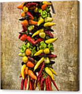 Color Peppers From Spain With Textured Background Dsc01467 Canvas Print