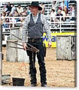 Color Rodeo Shootout Gunslinger Canvas Print