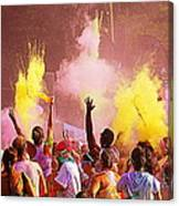 Color Run Canvas Print