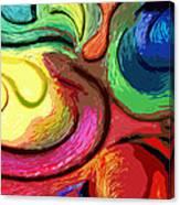 Color Swirl Canvas Print