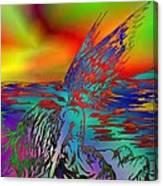 Color Tempest Angel On Rocks Canvas Print