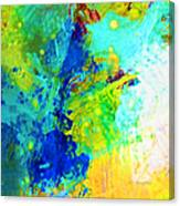 Color Wash Abstract Canvas Print