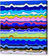 Color Waves No. 4 Canvas Print