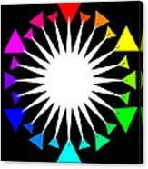 Color Wheel Burst Canvas Print