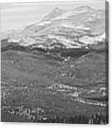 Colorado Continental Divide Panorama Hdr Bw Canvas Print