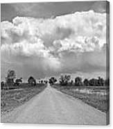 Colorado Country Road Stormin Bw Skies Canvas Print