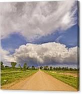 Colorado Country Road Stormin Skies Canvas Print